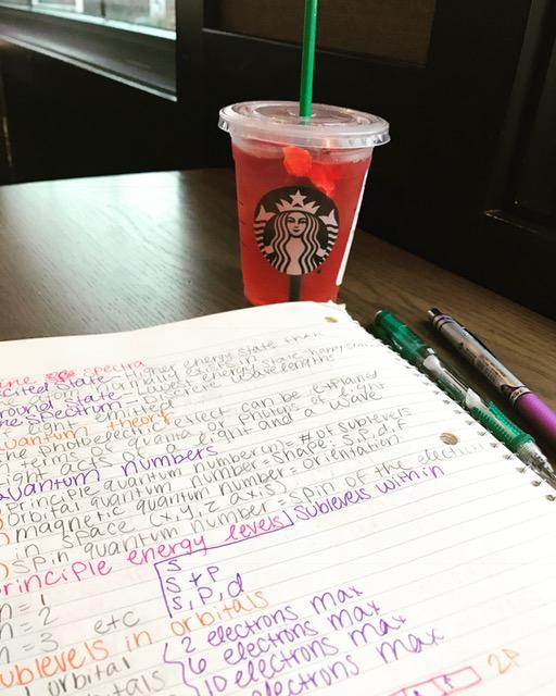 Studying+hard+in+the+quiet+Lake+Stevens+Starbucks%2C+away+from+distractions.