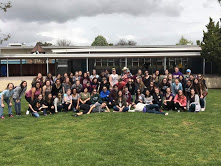 "The Jazz and Concert Choirs pose shortly after competing. The choir got to spend the next day at an amusement park to celebrate their hard work and received their 1st and 3rd place awards that night. ""As a senior, it"