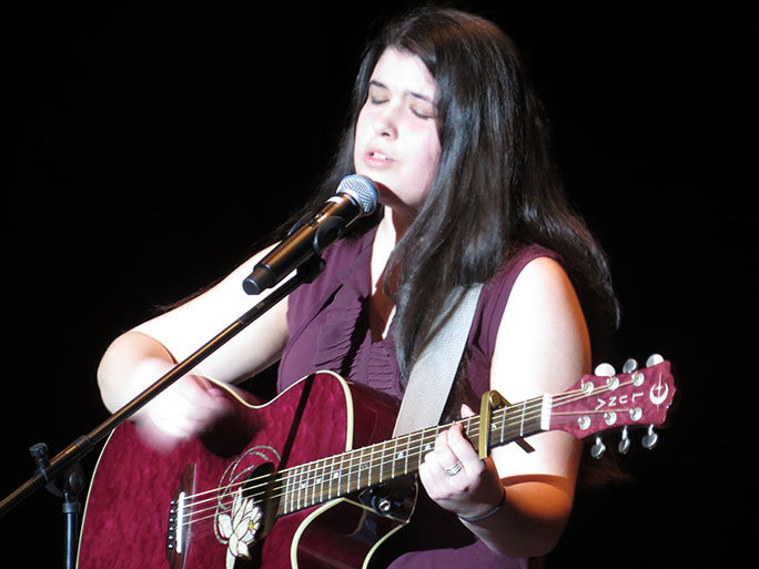 "Winner of 2017 Talent Show Madi Gillbert with her original song called ""Phoenix"". As well as singing an original, she played the guitar too."