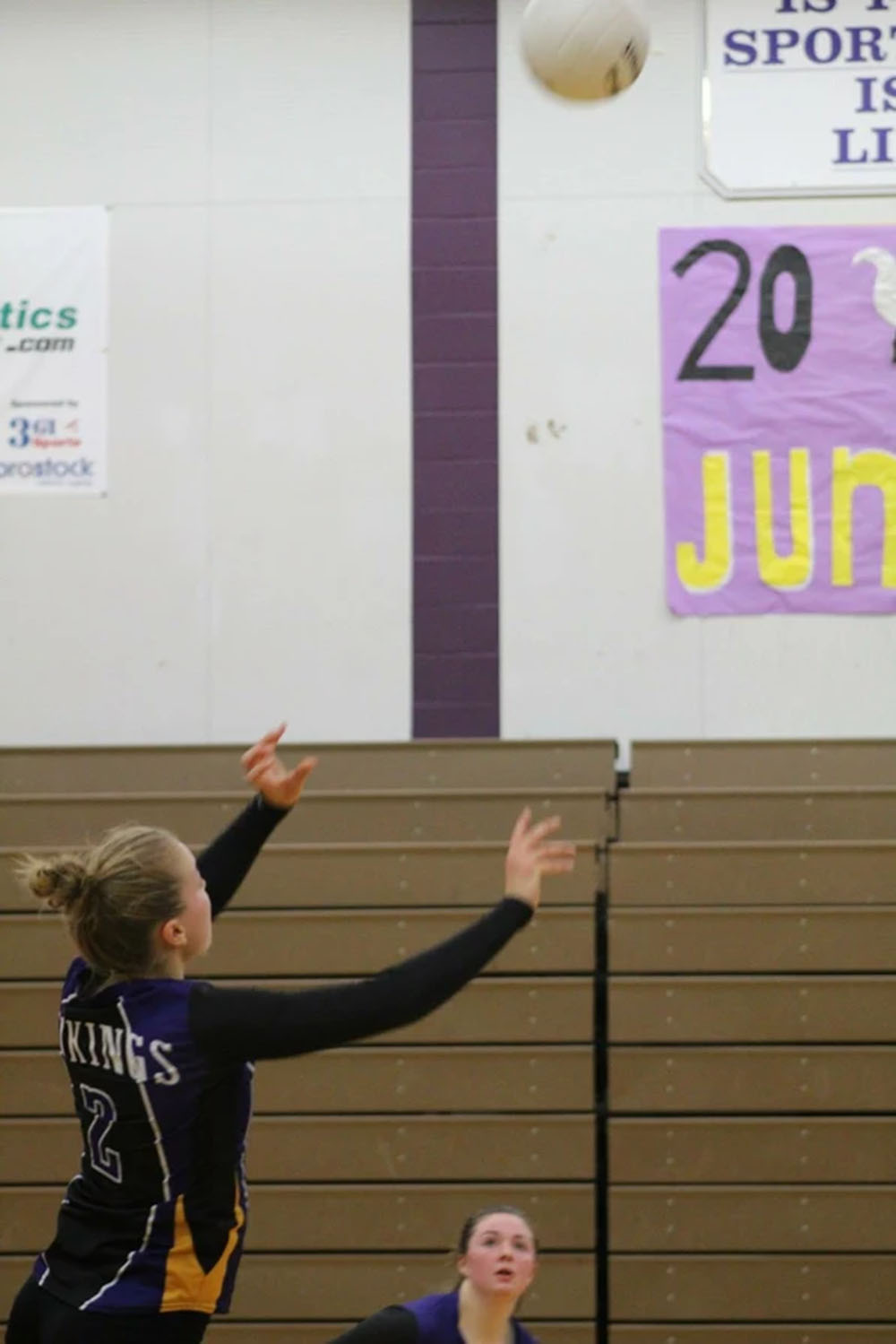 """Game point: Senior Lillian Eason sets her teammate to score the Viking's twenty fifth point for their third set. Kamiak visited Lake Stevens for their match on October 10, 2017; the game lasted five sets. After losing the first two sets of this game, Lake came back and dominated the next three sets. """"Come out and play like you've got nothing to lose,"""" said senior Hannah Aaenson when entering their fifth set."""