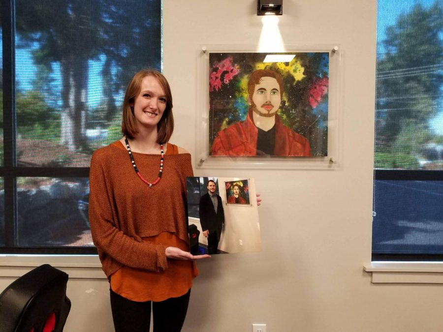 LSHS+student+left+starstruck%3A+Senior+Cara+Lewis+receives+honor+of+presenting+her+work+to+hometown+celebrity%2C+Chris+Pratt.+After+winning+local+art+contest%2C+Lewis+attended+the+opening+ceremony+of+the+Dan+Pratt+Memorial+Center.+%E2%80%9CThis+guy+pulled+%5Bmy+art%5D+out+for+me+to+give+it+to+%5BChris+Pratt%5D+and+he+took+it+and+he+was+like+%E2%80%98you+did+that%3F%21+She+did+that%3F%21%E2%80%99+and+he+held+it+up+for+everyone+and+he+was+like+%E2%80%9Cshe+did+that%21%E2%80%99+and+he+was+freaking+out+like+a+little+kid%2C+it+was+awesome%2C%E2%80%9D+Lewis+says.+