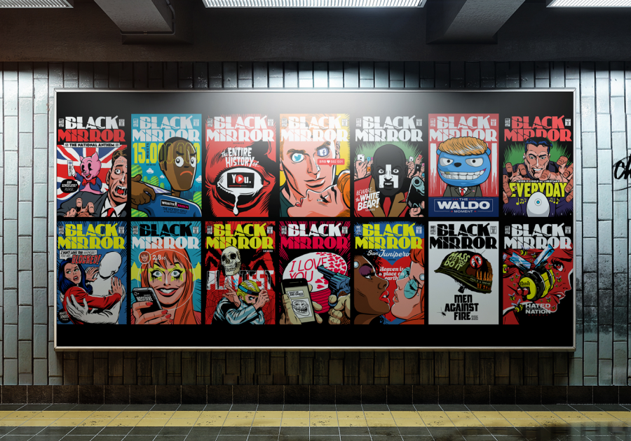 Comic-Sans+Horror%3A+Butcher+Billy%2C+a+Brazilian+artist+and+creator+of+contemporary+art+has+his+work+on+display-+vintage+comic+book+style+cover+art+designed+in+caricature+of+each+episode+of+Black+Mirror.+The+art+itself+is+difficult+to+depict+without+having+watched+the+episodes%2C+although+even+without+context+were+quite+intriguing.+