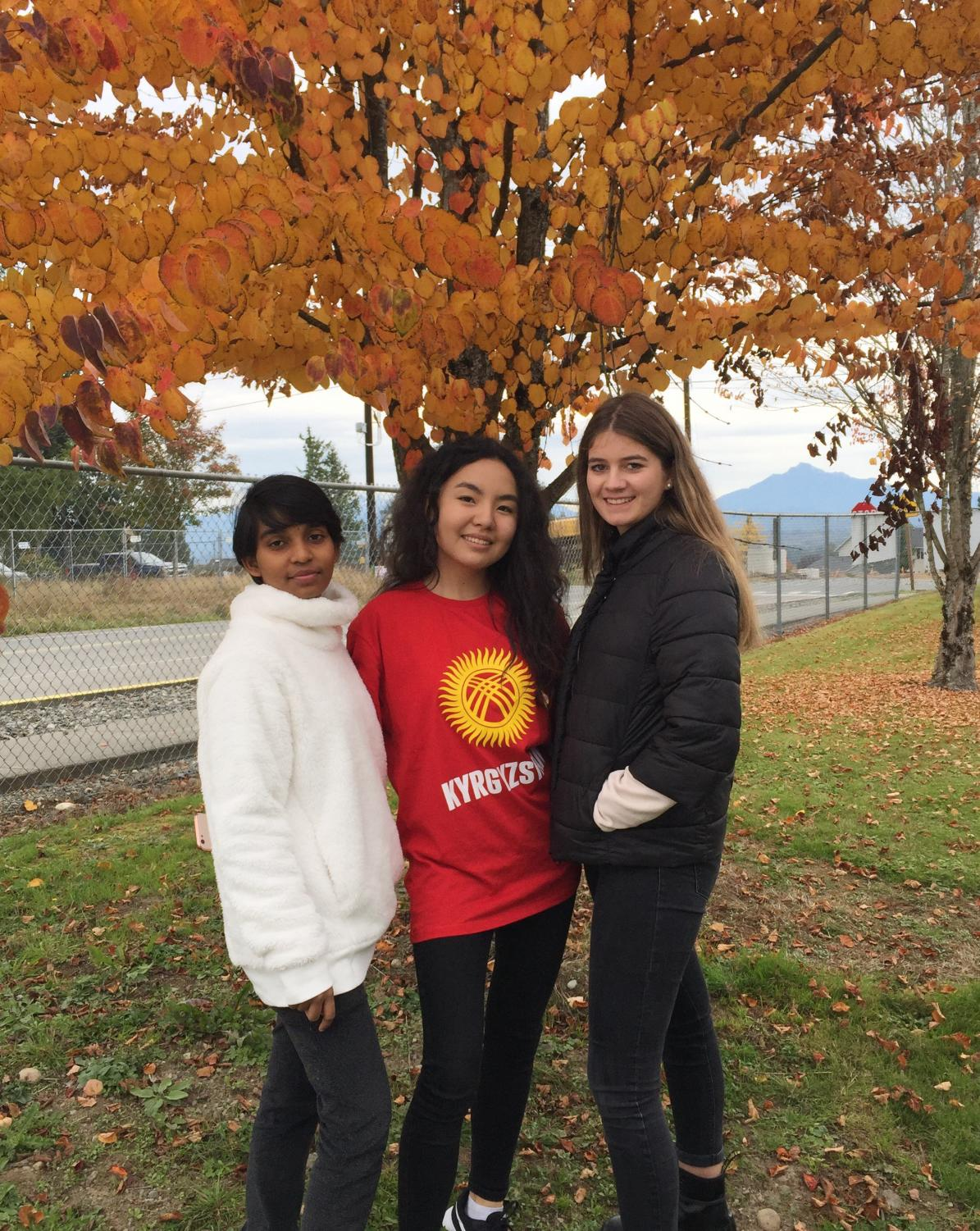 Anshika Patel, Kamila Almaz, and Katherina Huber are all exchange students who are excited to start their year at LSHS.
