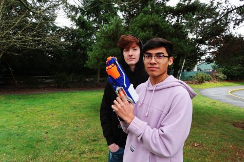 Senior Cody Demerchant and Jayden Digos both ready to get their targets