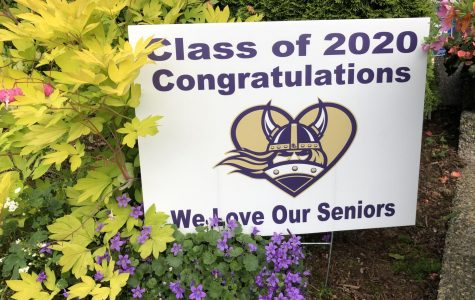 The yard sign given to seniors. This sign means more to many than you would believe.