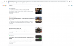 Search results of 'Capitol Hill' on Jan 6th, 2021