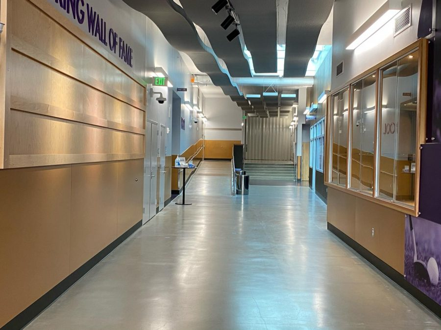 The empty halls of Lake Stevens High School. LSHS has been without students since the initial school shutdown last March.
