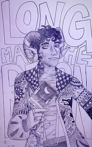 """Critical Role fanart of Mollymauk Tealeaf. Part 1 of an in-progress Critical Role portrait series"""