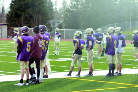 "Fresh start: All players on the field or sidelines working hard to prepare for the season. Lake Stevens Vikings are eager start this season strong. ""They"