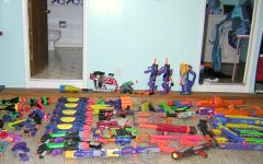 Nerf gun arsenal: Seniors are allowed to choose their Nerf weapon of choice to assassinate their target. The variety of weaponry doesn't make the kill any easier though. The waiting game is the toughest part of the competition, senior Sophia Rippo said that she