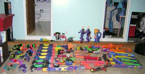 Nerf gun arsenal: Seniors are allowed to choose their Nerf weapon of choice to assassinate their target. The variety of weaponry doesn