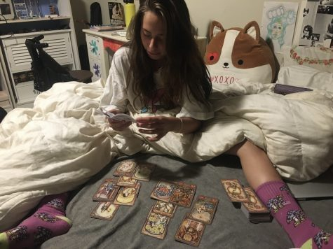 Spiritual Exploration: Junior Cecilia Valles learns how to give a tarot reading. Valles had always been interested in tarot reading, but felt that she wasn