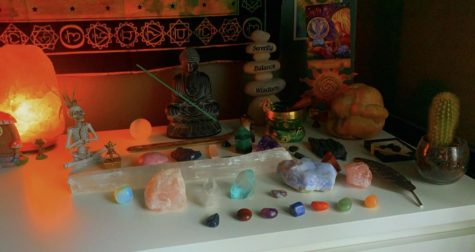 """Sacred Self-Care: Some people find themselves using crystals as one of the most proactive ways to bring good energy into their life and to clear their mind and body of negative energy. Crystals are used for ancient medicine and have the power to significantly alter your life.  """"I began getting into spirituality and crystals because of my friend Mikayla who introduced me to it, telling me all the benefits it has provided in her life, explaining how someone starting out should go about it,"""" senior Janryk Armamento said."""